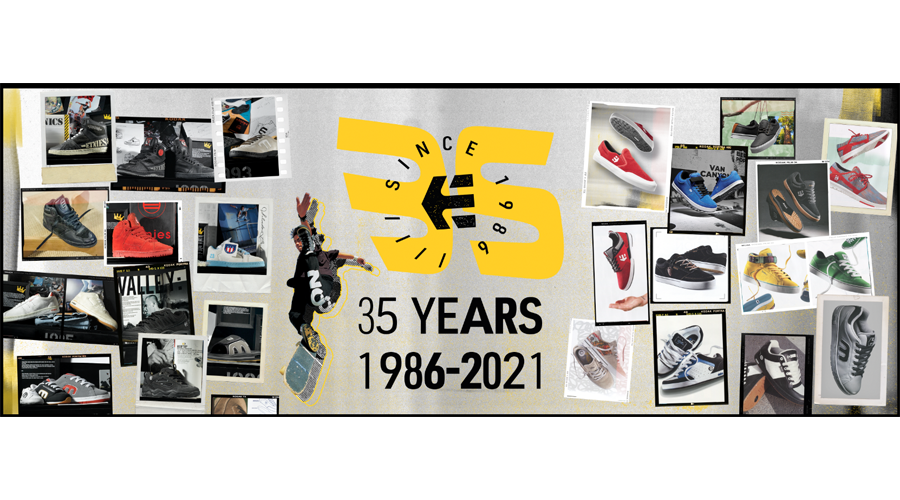 Etnies Celebrates 35 Year Anniversary; Looks To Its Past, Present And Future