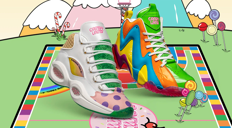 "Reebok x Hasbro Release Kids ""Candy Land"" Footwear Collection"