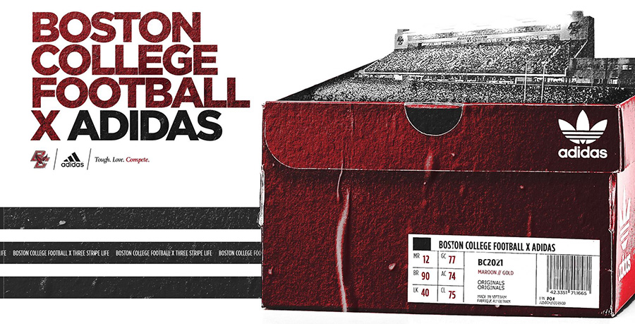 Adidas Signs Football Deal With Boston College