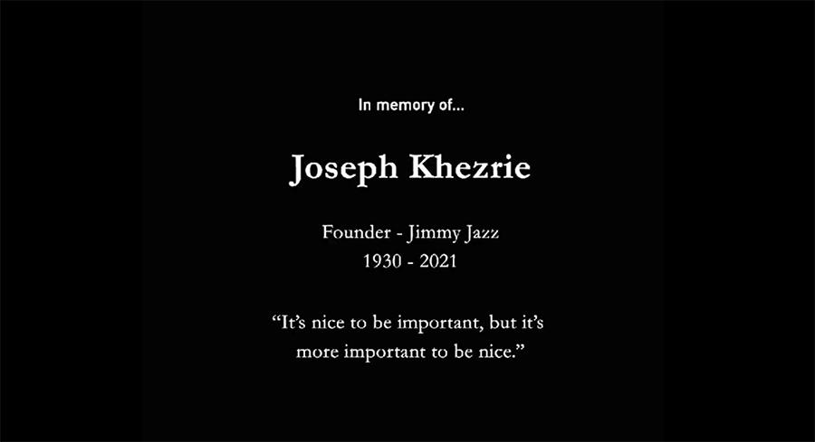 OBIT: Jimmy Jazz Founder Joseph Khezrie