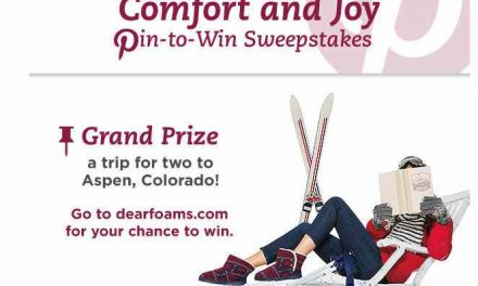 Dearfoams Launches Comfort and Joy Pin-to-Win Sweepstakes