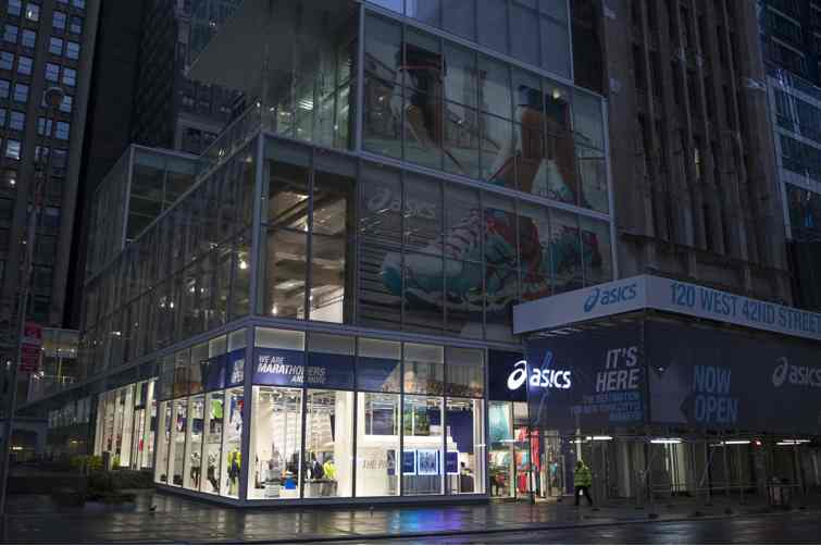 asics nyc times square